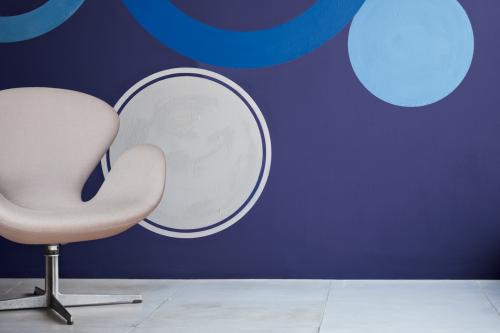 årets färg 2013 rich blue cirklar målade vägg