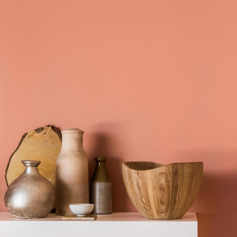 copper orange 2015 väggfärg vaser