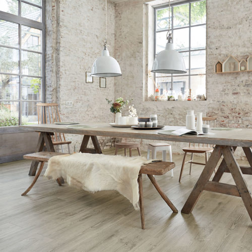 Nordsjö Idé & Design gulv tarkett starfloor click scandinavian oak medium grey